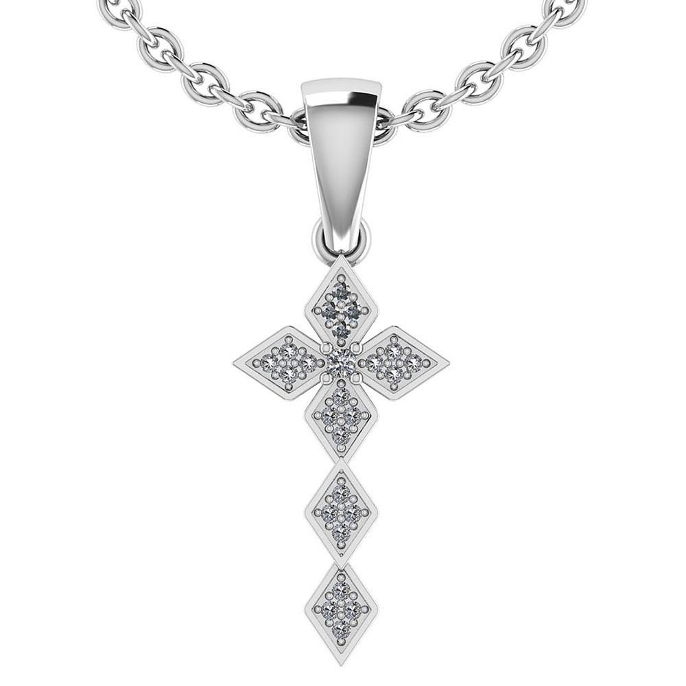 0.068 Ctw Diamond 14k White Gold Halo Necklaces #PAPPS95999