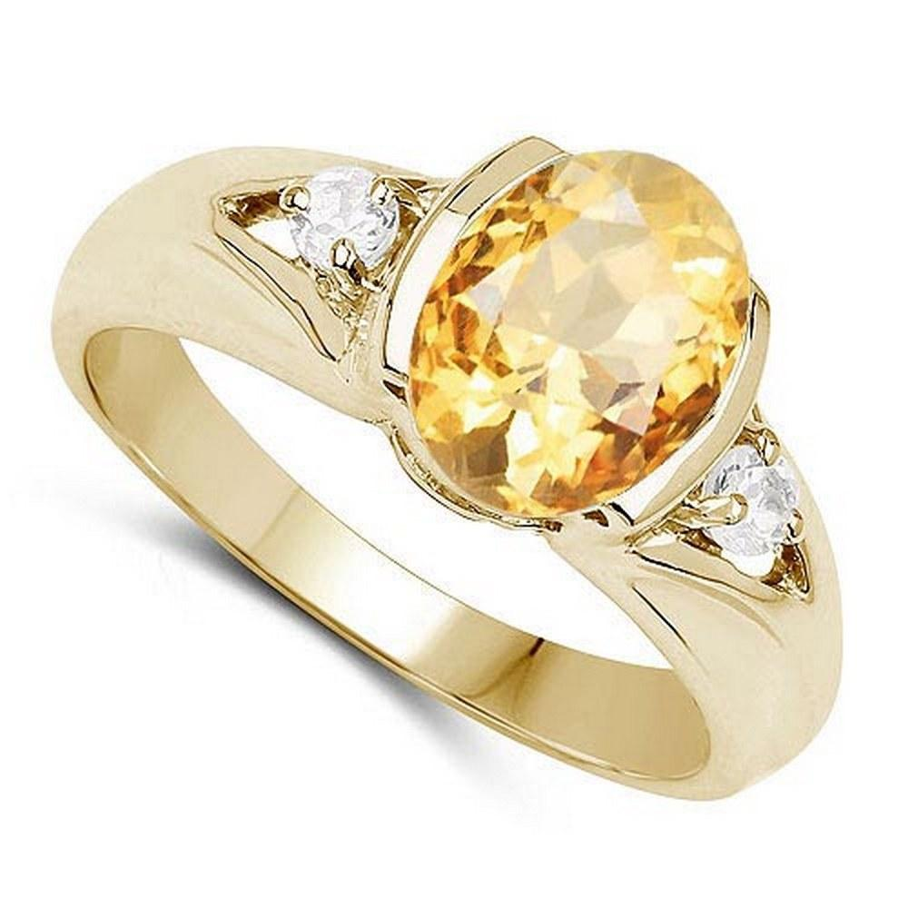 2.70 CTW Genuine Citrine And Diamond 14K Rose Gold Ring #PAPPS90522