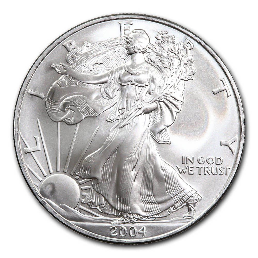 2004 1 oz Silver American Eagle BU #PAPPS49305