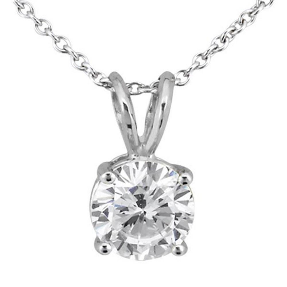 1.00ct. Round Diamond Solitaire Pendant in 18k White Gold (H VS2) #PAPPS20424