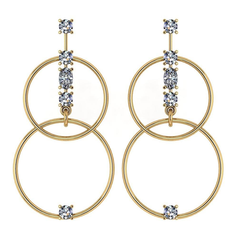 Certified 0.66 Ctw Diamond VS/SI1 Earrings 14K Yellow Gold #PAPPS22055