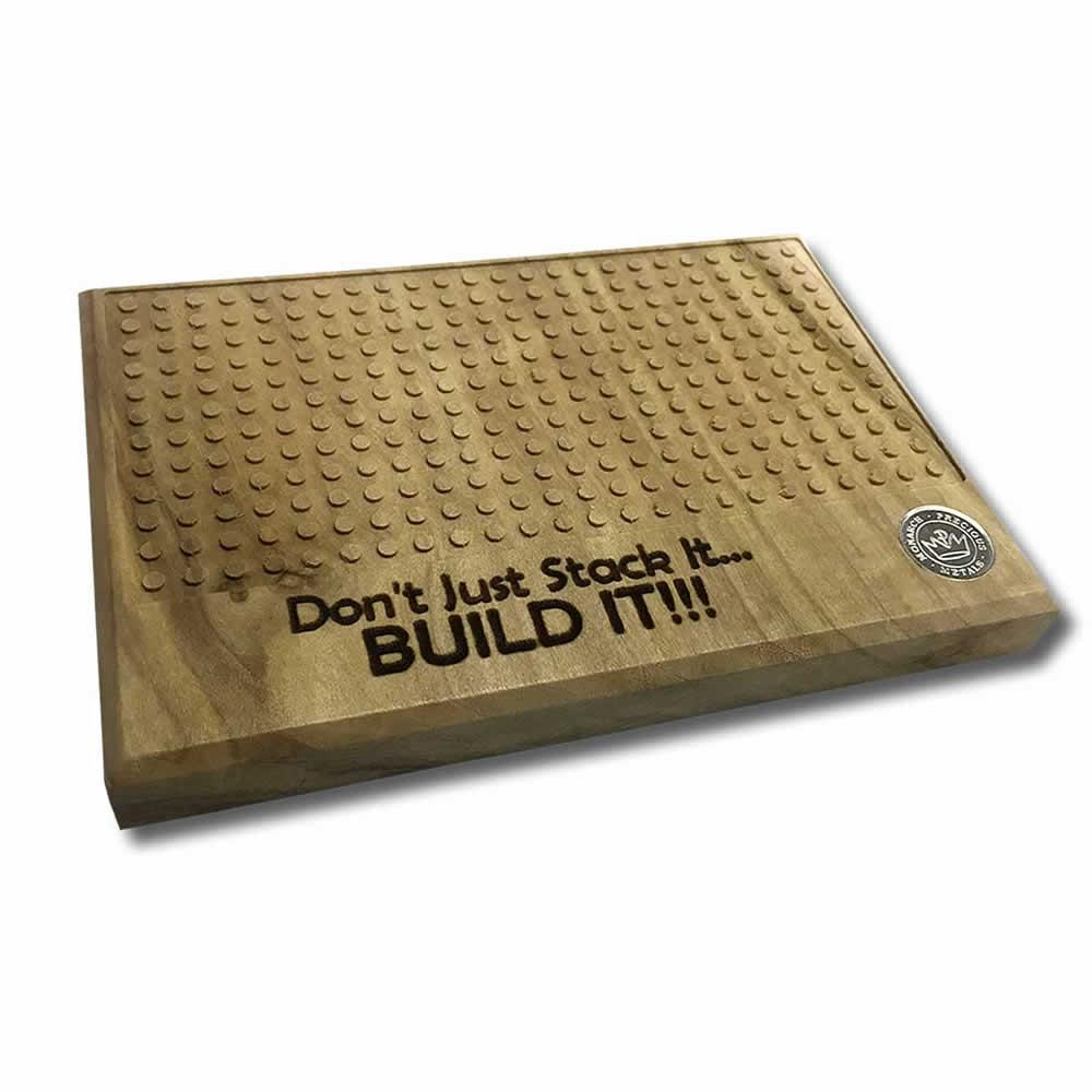 Solid Wood Building Base for Monarch Silver Block Bars #PAPPS49176