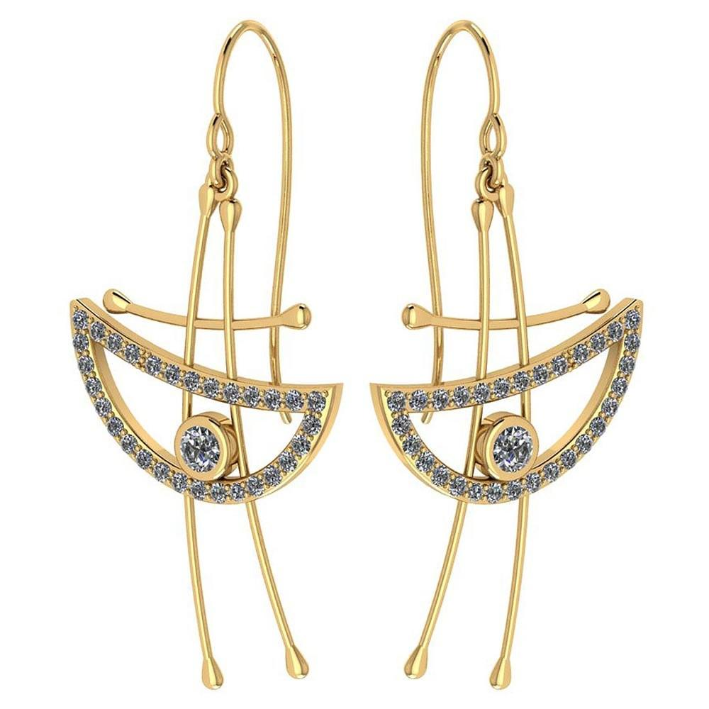 Certified 0.92 Ctw Diamond Eye Styles Wire Hook Earrings New Collection 18k Yellow Gold #PAPPS19510