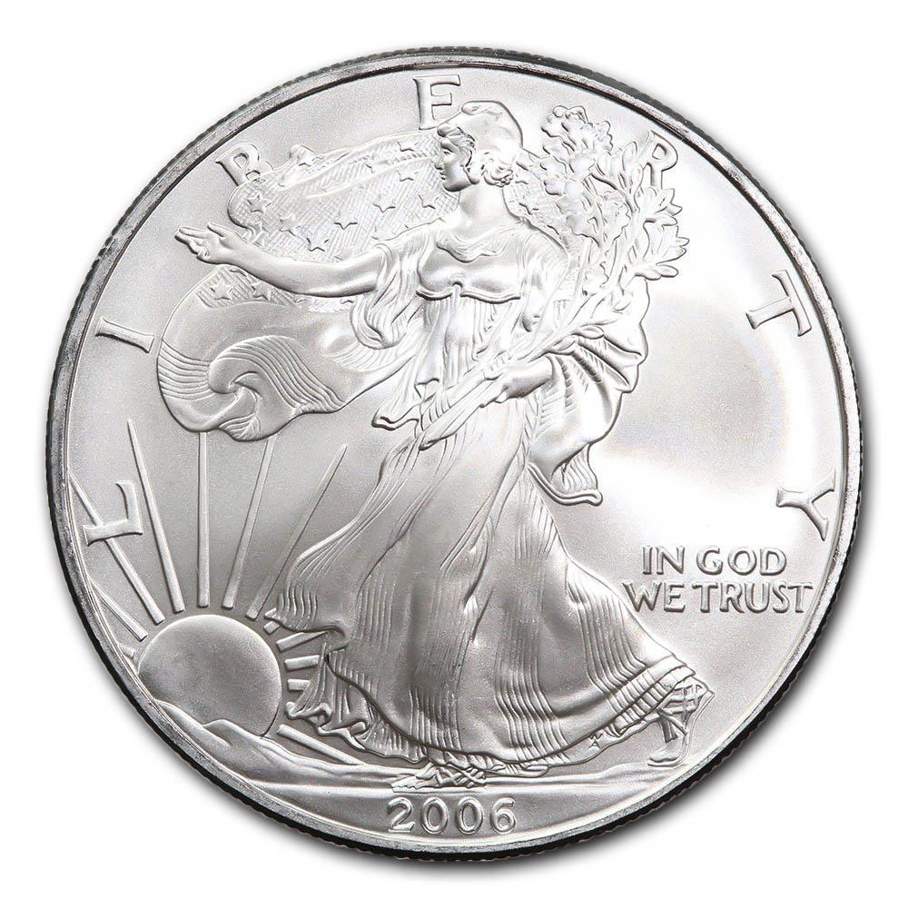 2006 1 oz Silver American Eagle BU #PAPPS49303