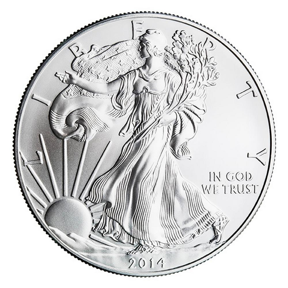 2014 Silver Eagle 1 oz Uncirculated #PAPPS49295