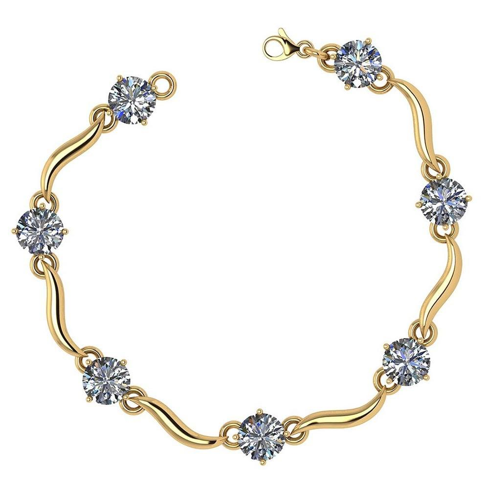 Certified 3.50 Ctw Diamond VS/SI1 Bracelet 14K Yellow Gold Made In USA #PAPPS21812