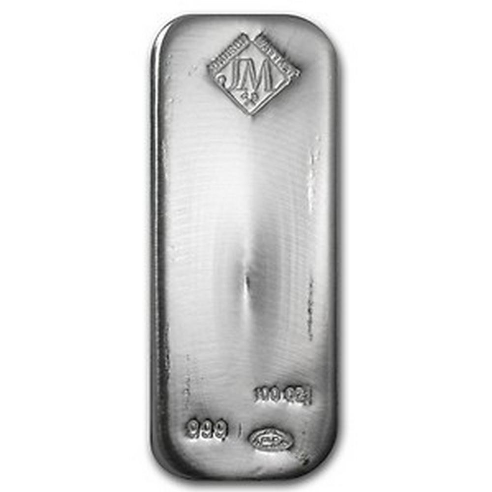 Johnson Matthey Silver Bar 100 oz #PAPPS49206