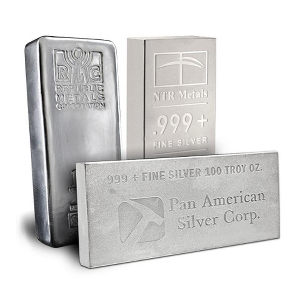 Random Manufacturer Silver Bar 100 oz #PAPPS49203
