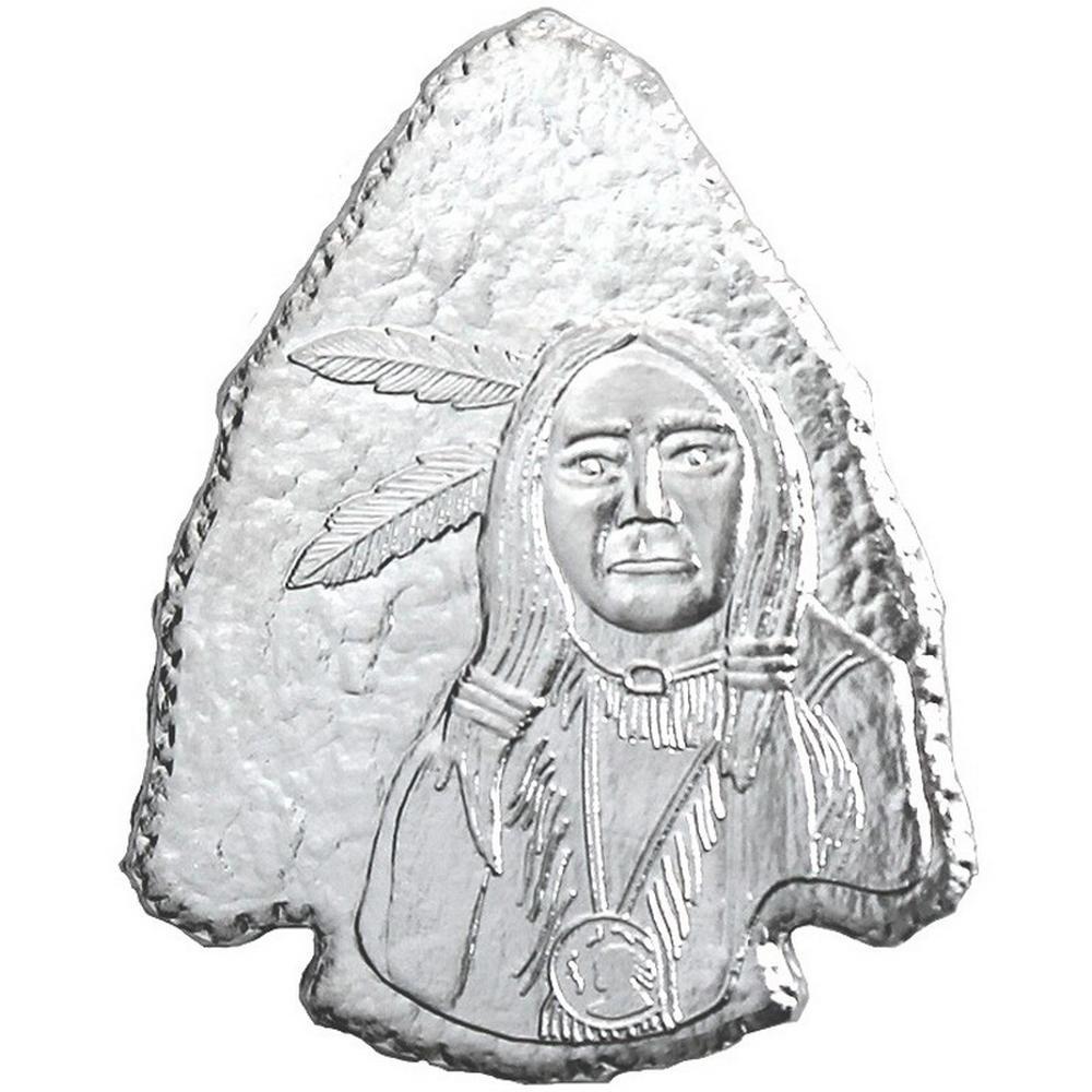 Arrowhead .999 Silver 1 oz Bar - Silver Towne #PAPPS49177