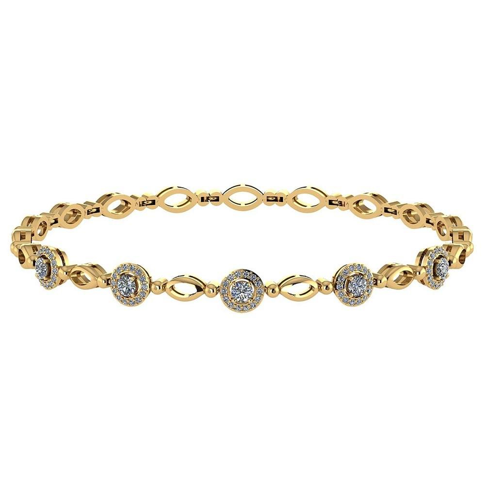 Certified 0.85 Ctw Diamond VS/SI1 Bracelet 14K Yellow Gold Made In USA #PAPPS21782