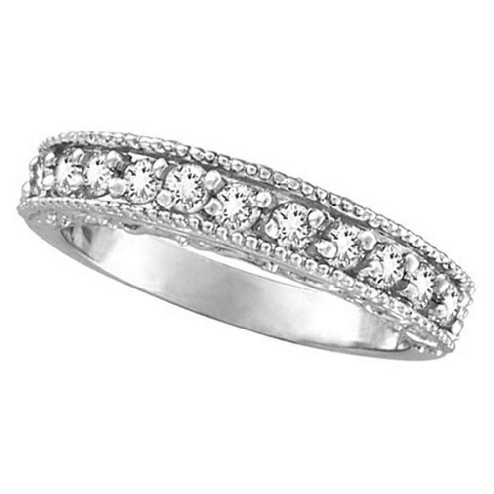 Semi-Eternity Diamond Ring Wedding Band 14k White Gold (0.50ct) #PAPPS51623