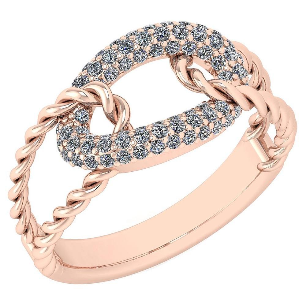 Certified 0.55 Ctw Diamond VS/SI1 Ring 14K Rose Gold #PAPPS22045