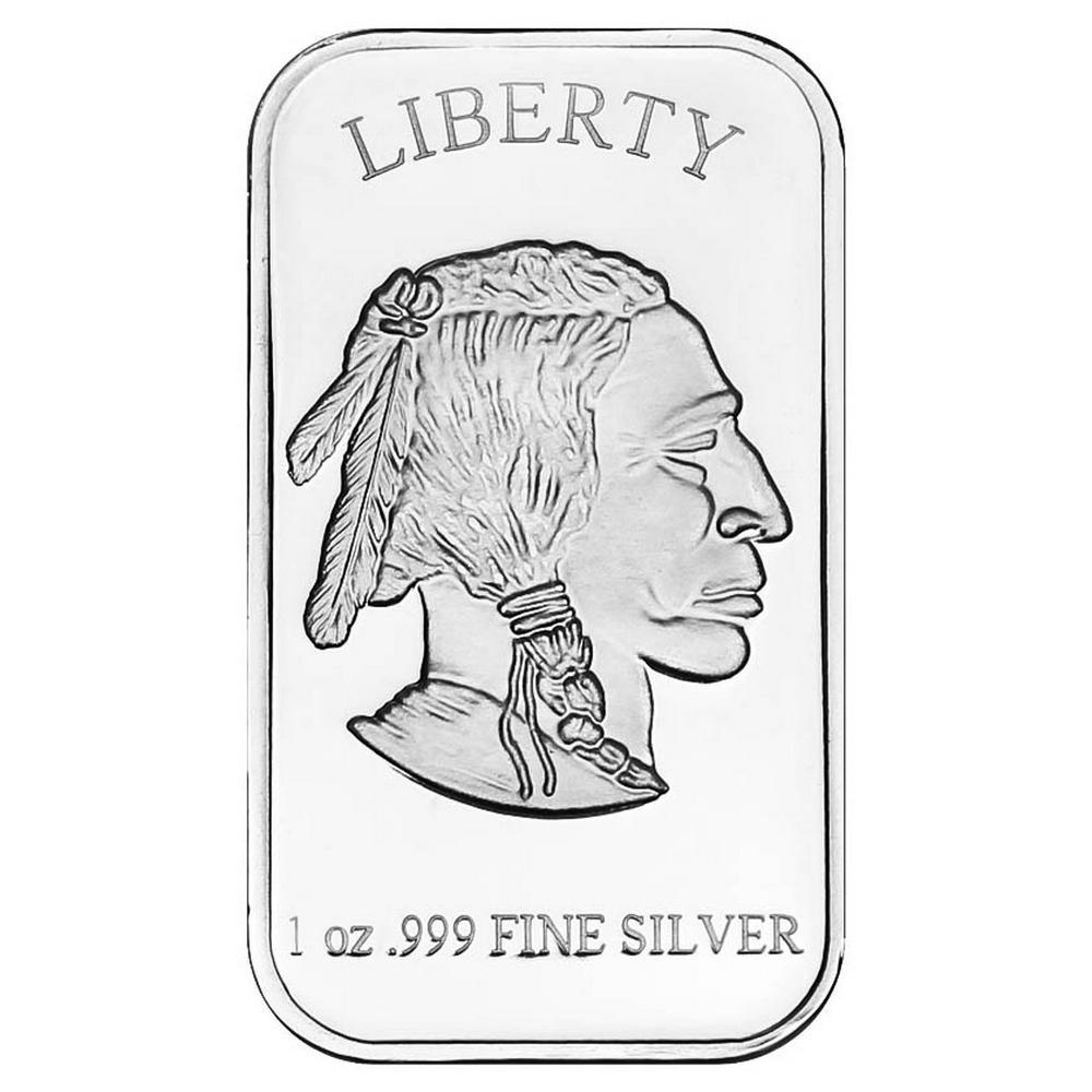 SilverTowne 1 oz Silver Bar - Buffalo Design #PAPPS49168