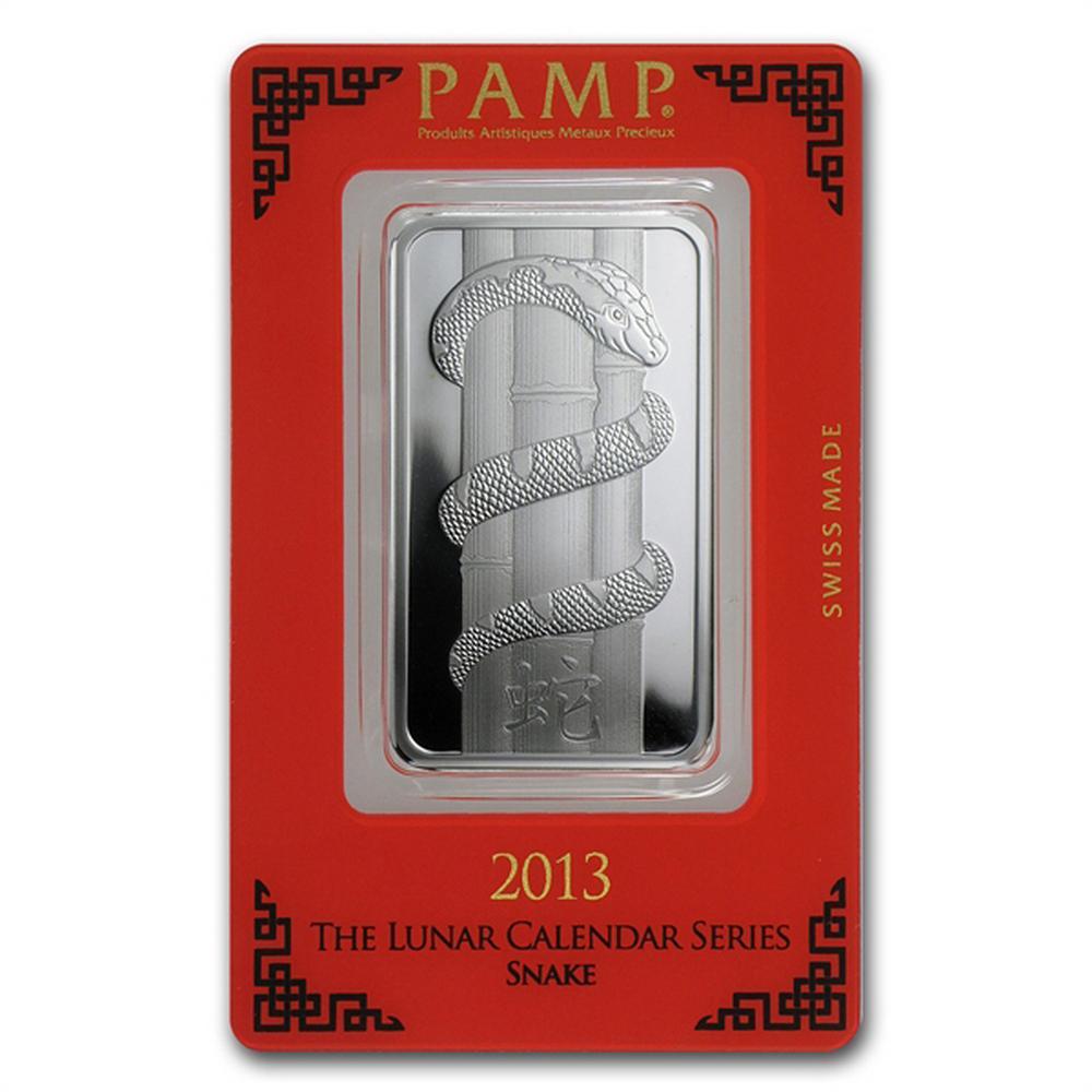 PAMP Suisse Silver Bar 1 oz - 2013 Snake Design #PAPPS49254