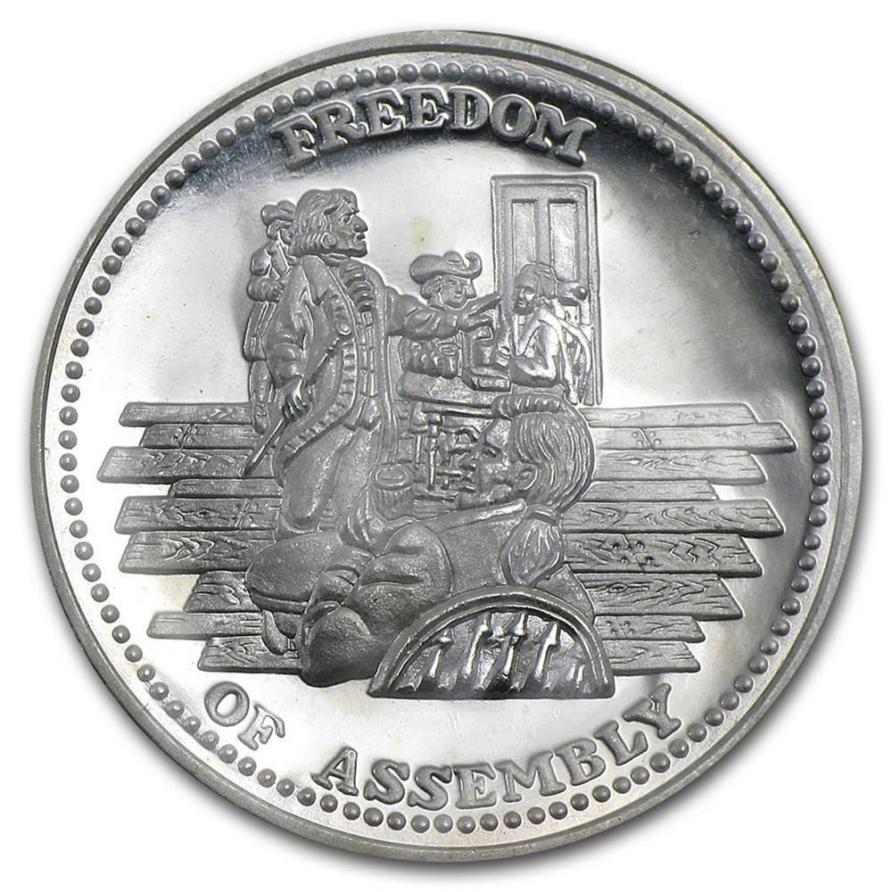1 oz Silver Round - Johnson Matthey Freedom Series (Set of 10) #PAPPS49280