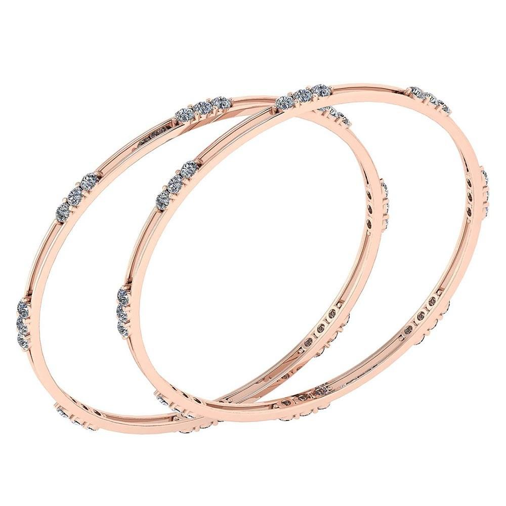 Certified 4.80 Ctw Diamond VS/SI1 Bangles 18K Rose Gold Made In USA #PAPPS22105