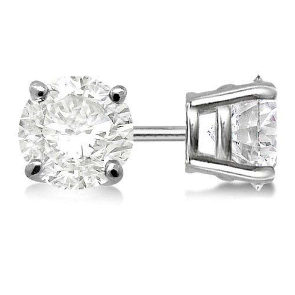 Certified 1 CTW Round Diamond Stud Earrings H/SI2 #PAPPS83908