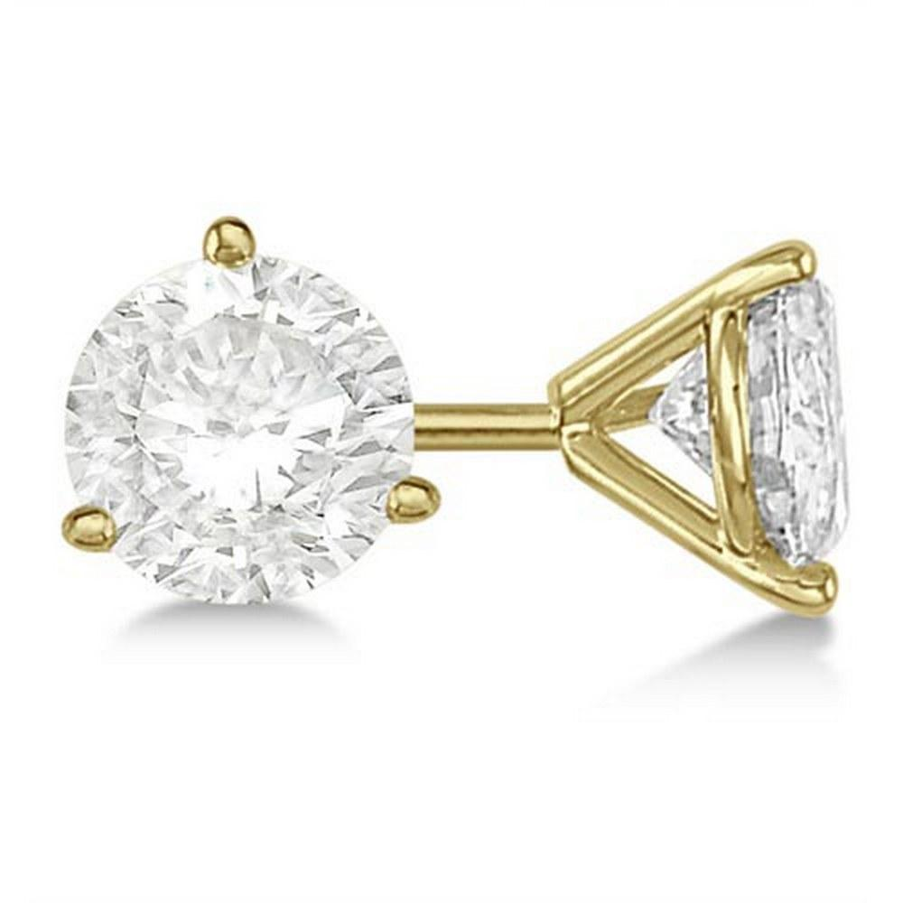 3.00ct. 3-Prong Martini Diamond Stud Earrings 18kt Yellow Gold (G-H VS2-SI1) #PAPPS20404