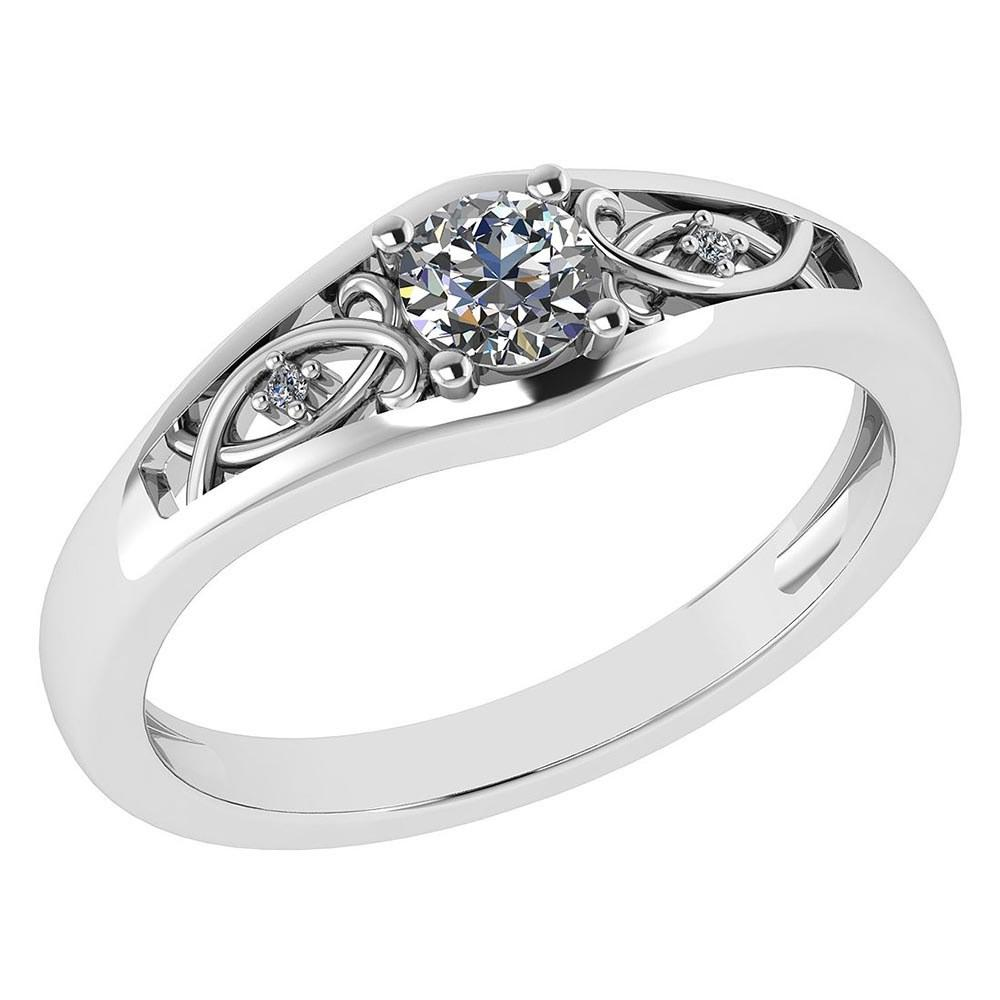 0.37 Ctw Diamond 14k White Gold Halo Ring VS/SI1 #PAPPS96002