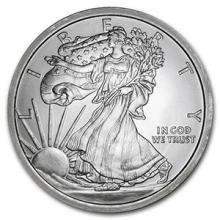 5 oz Silver Round - Walking Liberty #74497v3