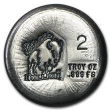 2 oz Silver Round - Bison Bullion #74562v3