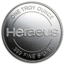 1 oz Silver Round - Heraeus #74508v3