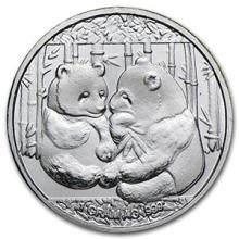 1 gram Silver Round - Panda #74502v3