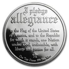 1 oz Silver Round - Pledge of Allegiance #74500v3