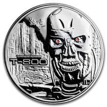 2 oz Silver Round - Terminator T-800 Proof #74594v3