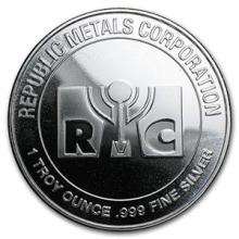 1 oz Silver Round - Republic Metals Corporation (RMC) #74459v3