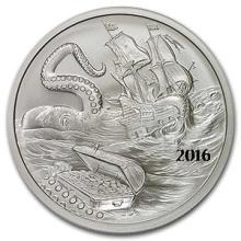 2016 Kraken Silverbug Island 1 oz Silver Round BU #74525v3