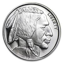 1/2 oz Silver Round - Buffalo #74478v3