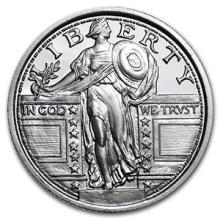 1/4 oz Silver Round - (Standing Liberty Quarter) #74462v3