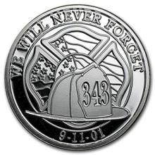 1 oz Silver Round - We Will Never Forget #74530v3