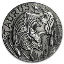 1 oz Silver Round Taurus - Zodiac Series #74602v3