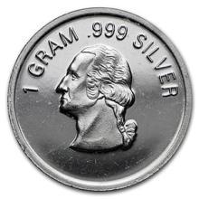 1 gram Silver Round - Secondary Market #74507v3