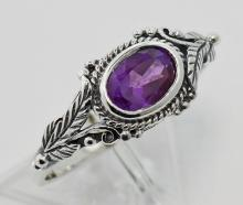 Amethyst Ring - Sterling Silver #97793v2