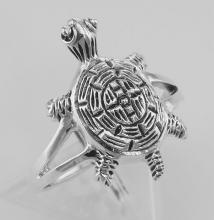 Fun Turtle Ring - Sterling Silver #97818v2