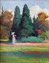 András Mikola (Hungarian, 1884-1970), In the park