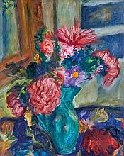 Frigyes Frank (Hungarian, 1890-1976), Still life with flowers