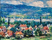 Andor Basch (Hungarian, 1885-1944), Bank of the Danube