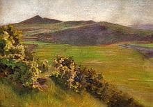 Hugó Poll (Hungarian, 1867-1931), Hills in the the summer sunlight