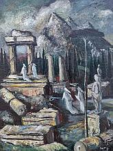 Pál Molnár C. (Hungarian, 1894-1981), Antique ruins
