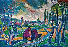 István Kozma (Hungarian, 1937-), Klastrom field