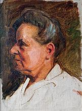 László Mednyánszky (Hungarian, 1852-1919), Portrait of a woman
