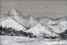 Jenő Szepesi Kuszka (Hungarian, 1885-1948), Winter in the Tatra
