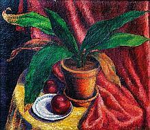 Márton Faragó (Hungarian, 1880-1947), Still life with apples