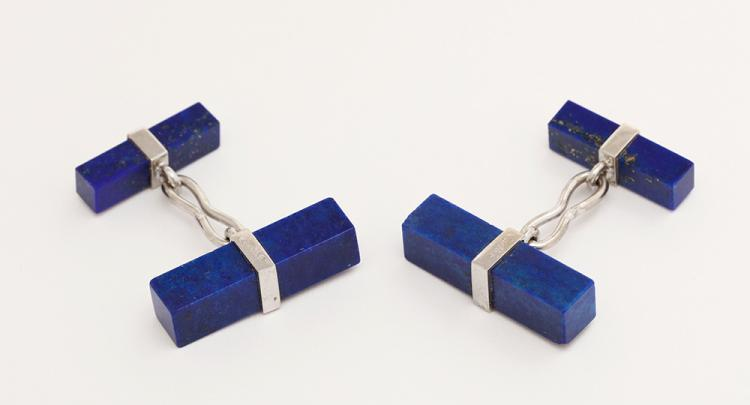 Cartier Lapis Cufflinks