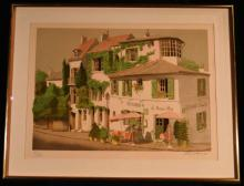 Framed Lithograph, La Maison Rose, Signed and Numbered by Dennis Paul Noyer, 18