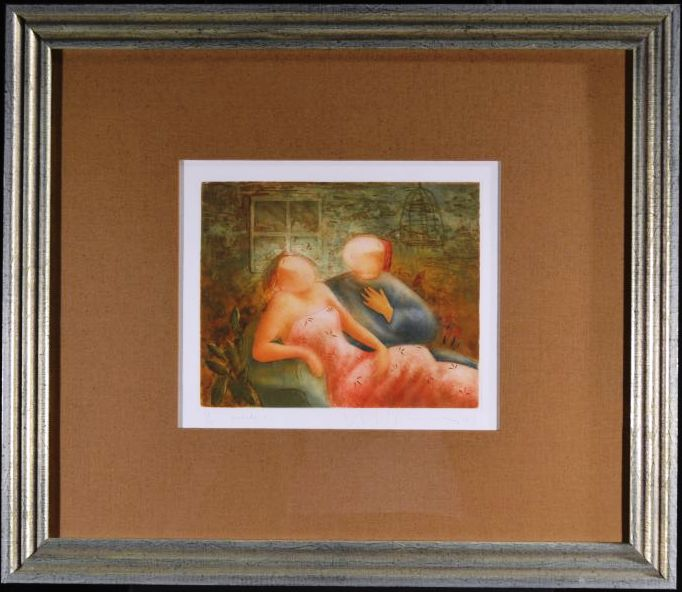 Prelude One, Framed Pencil signed Etching by Eng Tay, 12